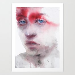 red shade Art Print