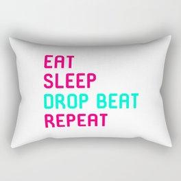 Eat Sleep Drop Beat Repeat Turntable Heartbeat Rectangular Pillow