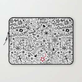 Merry Christmas Multiple languages Laptop Sleeve