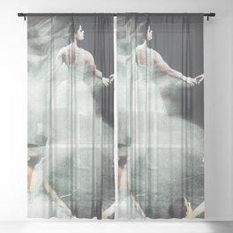 Ghost Dance, Vintage Ballet Sheer Curtain