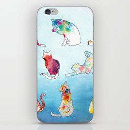 Painted Cats iPhone Skin