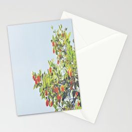Drops of orange in a sea of blue Stationery Cards