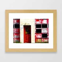 Red Doors on Garage  #2 Framed Art Print