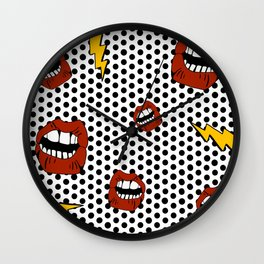 Pop Lips Wall Clock