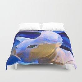 Pablo's Cat Blue Period Duvet Cover