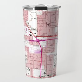 Vintage Map of Las Vegas Nevada (1967) 3 Travel Mug