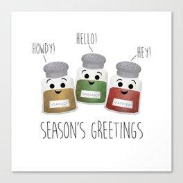 Season's Greetings | Garlic, Oregano & Paprika Canvas Print