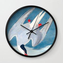 Arctic Tern James Audubon Vintage Scientific Illustration American Birds Wall Clock