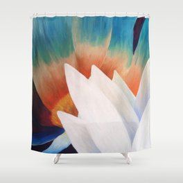 Juxtaposed Flowers Shower Curtain