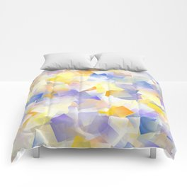 Spring Daffodil Flowers In Cubes Comforters