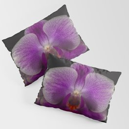 A Beautiful Close Up Of A Purple Orchid Pillow Sham