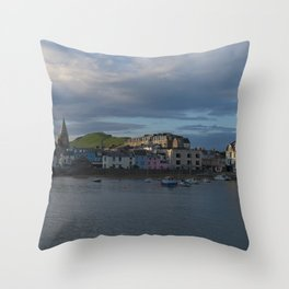 Ilfracombe At Sunset Throw Pillow