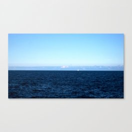 The Lone Sailboat Canvas Print