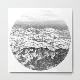 San Jose Hills- Circle Metal Print