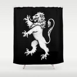 Lion Rampant Hatching Shower Curtain