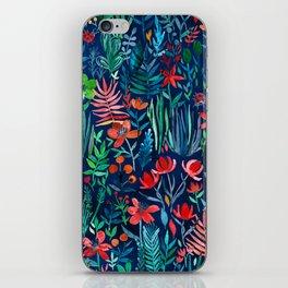 Tropical Ink - a watercolor garden iPhone Skin
