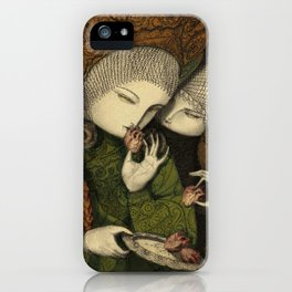 Three maidens by the window iPhone Case