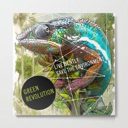 CHAMELEON: green revolution Metal Print