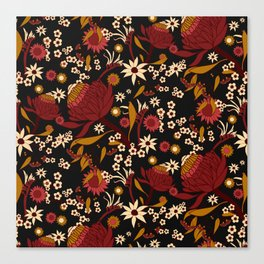 Australian Natives Red Blossom Canvas Print