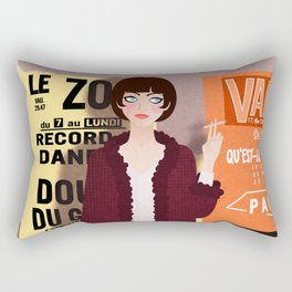 Vivre Sa Vie Rectangular Pillow