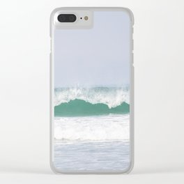 sea waves Clear iPhone Case