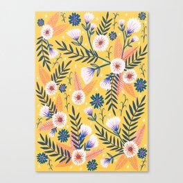 Sunshine florals Canvas Print