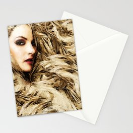 Mysterious Blonde Stationery Cards