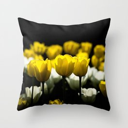 Tulips Yellow And White Throw Pillow