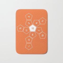 Orange Unrolled D12 Bath Mat