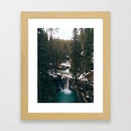 Johnston Canyon Falls Framed Art Print