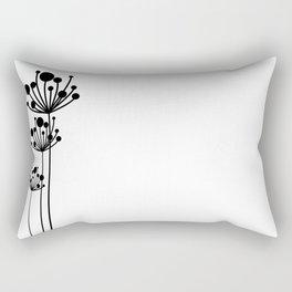 Minimal Floral Rectangular Pillow