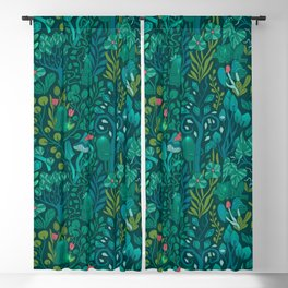 Emerald forest keepers. Magic woodland creatures. Blackout Curtain