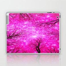 Black Trees Hot Pink Space Laptop & iPad Skin