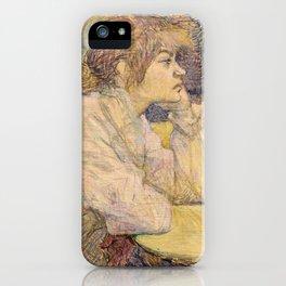 """Henri de Toulouse-Lautrec """"The Hangover (Suzanne Valadon)"""" iPhone Case"""