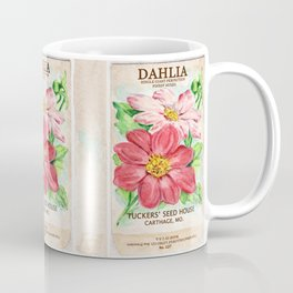 Dahlia Seed Packet Coffee Mug