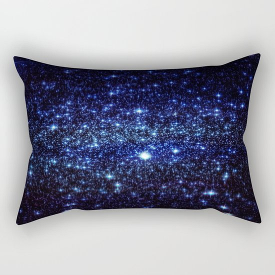 Dark Blue Stars Rectangular Pillow
