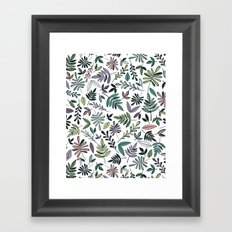 Black Border Leaves  Framed Art Print