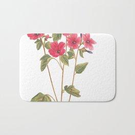 Floral illustration Bath Mat
