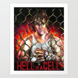 Hell in a Cell - Dean Ambrose. Art Print