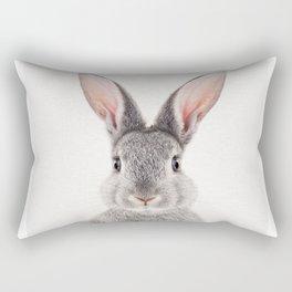 Baby Rabbit, Baby Animals Art Print By Synplus Rectangular Pillow