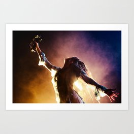 Florence + The Machine Silouette Art Print