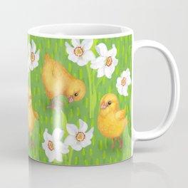 Chickens - spring yellow green Coffee Mug