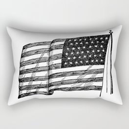 American flag 2 Rectangular Pillow