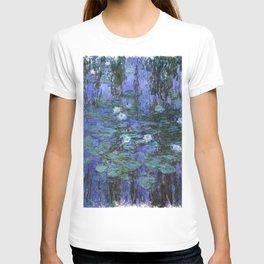 Blue Water Lilies - Claude Monet T-shirt