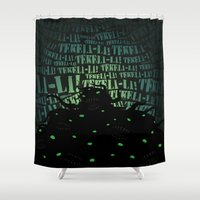 lovecraft Shower Curtains featuring Lovecraft Shoggoth by Steve Santiago