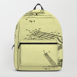 Guitar Patent - Antique Ivory Backpack