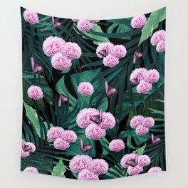 Tropical Peonies Dream #1 #floral #foliage #decor #art #society6 Wall Tapestry
