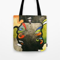 captain Tote Bags featuring Captain by Ecsentrik