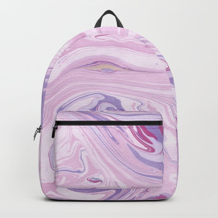 Vintage marble pattern soft pastels in pink and lilac Backpack