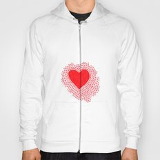 red geometric heart Hoody